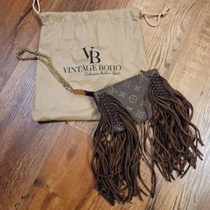 Louis Vuitton Wristlet Upcycled by Vintage Boho
